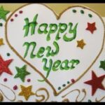 Happy new year greeting card 2021